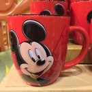 DISNEYLAND RESORT BIG RED CERAMIC MUG FEAT. MICKEY MOUSE NEW