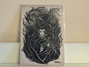 Disney WonderGround Gallery Maleficent SIGNED Postcard by Dave Quiggle NEW