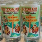 DISNEY WONDERGROUND GALLERY MR TOAD'S WILD RIDE GLASS CUP DAVE PERILLO