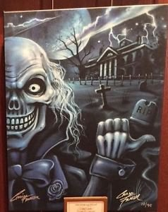 Disney Parks Haunted Mansion Ezra Hitchhiking Ghost LE Giclee Craig Fraser New