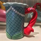 Disney Parks Little Mermaid Princess Ariel Signature Ceramic Mug Cup New