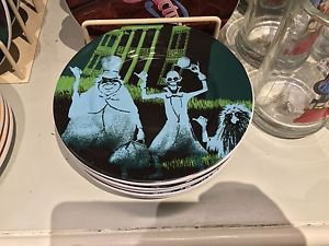 Disney Parks Attraction Poster Plate The Haunted Mansion- 7'' Brand New