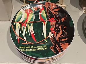 "Disneyland Resort Walt Disney's Enchanted Tiki Room Poster Ceramic Plate 7"" New"