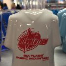 Six Flags Magic Mountain The New Revolution Ceramic Shirt Style Shot Glass New
