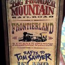 "Disney Parks Frontierland Attractions Wood Wall Plaque 30""x21"" Brand New in Box"