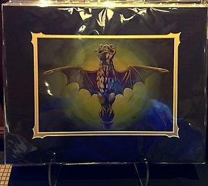 Disneyland Haunted Mansion 45th Bat Stanchion Deluxe Print by Brian Crosby New
