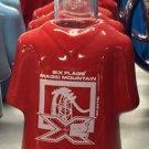 Six Flags Magic Mountain Ceramic Shirt Style Shot Glass Shot X-2 Coaster New