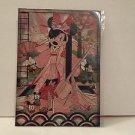 Disney WonderGround Kimono Minnie Mouse Postcard by Sean D'Anconia NEW RARE HTF