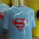 Six Flags Magic Mountain Ceramic Shirt Style Shot Glass Superman Shield  New