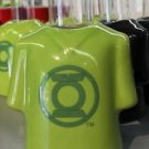 Six Flags Magic Mountain Green Lantern Logo Ceramic Shirt Style Shot Glass New