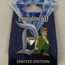 Disney Pin Disneyland 60th Diamond D Pin of the Month Peter Pan LE NEW