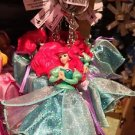 Disney Parks Little Mermaid Princess Ariel Figurine Keyring Keychain New