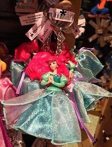 Disney Parks Little Mermaid Princess Ariel Figurine Keyring Keychain New