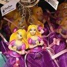 Disney Parks Tangled Princess Rapunzel Figurine Keyring Keychain New
