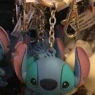 Disney Parks Stitch Big Face Figure Metal Rubber Keychain