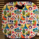DISNEY PARKS DLR DCA ATTRACTION COLLAGE PARADE CUSHION NEW