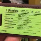 "Disneyland Resort Good For Choice of One ""E"" Adult Admission Ticket Keychain New"