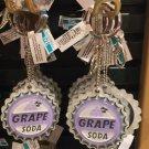 Disney Parks Grape Soda Keyring Acrylicy Keychain w/ Mirror New