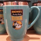Disney Parks Mickey's Really Swell Diner Art Ceramic Travel Mug Cup New