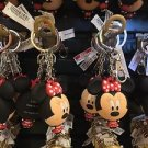 Disney Parks Minnie Mouse Big Face Figure Metal Rubber Keychain New
