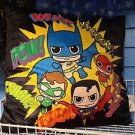 Six Flags Magic Mountain Batman Superman Flash Green Lanter Cutie X-Large Pillow
