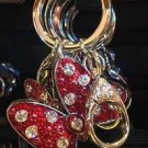 Disney Parks Disney Boutique Minnie Mouse Bow w/ Rhinestones Metal Keychain New