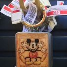 DISNEY PARKS EXCLUSIVE SQUARE MICKEY MOUSE METAL KEYCHAIN NEW WITH TAGS
