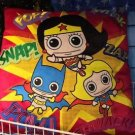 Six Flags Magic Mountain Wonder Woman Batgirl Supergirl Cutie X-Large Pillow New