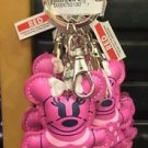 DISNEY PARKS MINNIE MOUSE STITCHED KEYRING KEYCHAIN NEW (PINK)