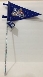 DISNEYLAND 60TH DIAMOND CELEBRATION COLORED CANDY + PENNANT FLAG NEW W/ TAGS