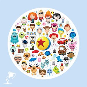 Disney WonderGround Gallery Pixar Characters Postcard by Jerrod Maruyama New