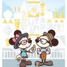 Disney WonderGround Hipster Mickey Small World Postcard by Jerrod Maruyama New