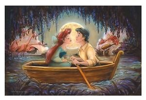 Disney Parks The Little Mermaid Kiss The Girl Deluxe Print by Darren Wilson New