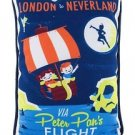 DISNEY WONDERGROUND GALLERY NEVERLAND PETER PAN'S FLIGHT PILLOW BY DAVE PERILLO