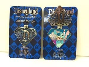 Disneyland 60th Diamond Celebration Limited Edition Stitch Pin Annual Passholder