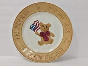 I'm Proud to Be An American Ceramic Plate 1983 The Original Red Plate Co.