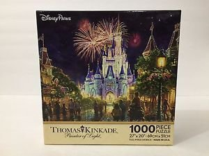 DISNEY PARKS THOMAS KINKADE WALT DISNEY WORLD MAGIC KINGDOM CASTLE PUZZLE NEW