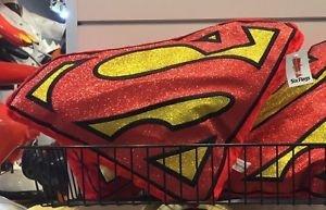 Six Flags Magic Mountain DC Comics Superman Shiny Shield Red Big Pillow Plush