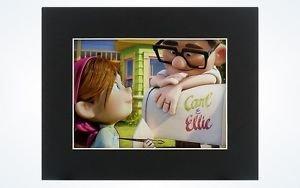 """Disney Parks Disney Pixar """"UP"""" Carl and Ellie Limited Release Laser Cel New"""