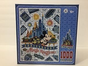 DISNEY PARKS WALT DISNEY WORLD MAGIC KINGDOM 45TH ANNIVERSARY PUZZLE NEW