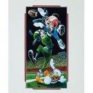 "Disney Parks Mickey Goofy Donald ""Football"" Deluxe Print by Brian Blackmore New"