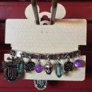 Disney Parks Haunted Mansion Bracelet With Dangling Charms New On Card