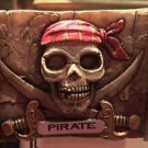 Disney Parks Pirates of The Caribbean Map Skull Magnet New