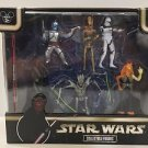Disney Parks Star Wars  Prequel Collection Collectible Figures New (Damaged Box)