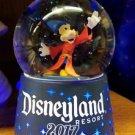 Disneyland Resort 2017 Sorcerer Mickey Mouse Light Up Glass Snow Globe New