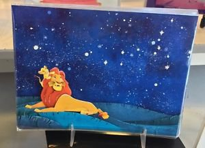 Disney WonderGround Lion King - Kings Of The Past Postcard by Jackie Huang New