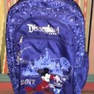 Disneyland Resort 2017 Sorcerer Mickey Mouse Blue School Backpack New