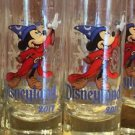 Disneyland Resort 2017 Shot Glass Toothpick Holder Sorcerer Mickey Mouse Set of2