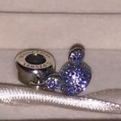 Disneyland 60th Pandora Mickey Ear Blue Sparkling Hat Charm New with Box
