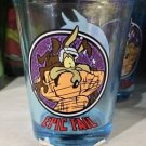 "Six Flags Magic Mountain Looney Tunes Wild E Coyote ""Epic Fail"" Shot Glass New"